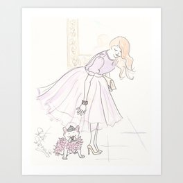 Tutu Fashion and Tutu Cute French Bulldog Art Print