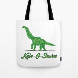 Kale Art for Vegans, Vegetarians & Dinosaur Lovers Light Tote Bag
