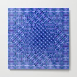 Tilt-a-Whirl Tiles Metal Print