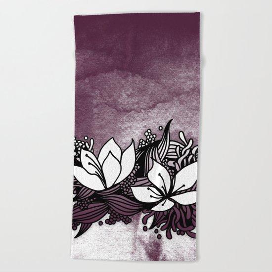 Flower Tangle Beach Towel