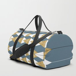 Construction Blue Gold III #kirovair #minimal #minimalism #buyart #design Duffle Bag