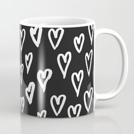 Pattern with hand-drawn Hearts Coffee Mug