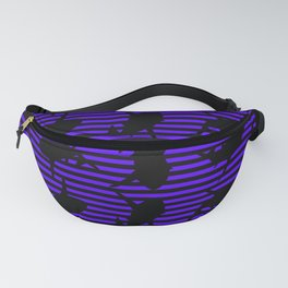 Stripes and Purple Sharks Pattern Fanny Pack