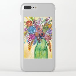 Bouquet II Clear iPhone Case