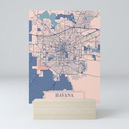 Havana - Cuba Breezy City Map Mini Art Print