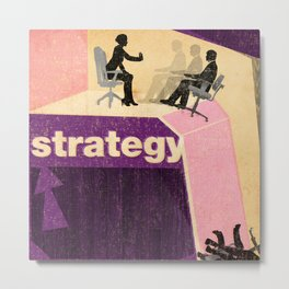 Business Strategy Metal Print
