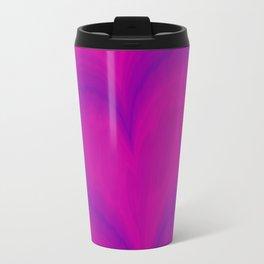 Valentine's Day Purple Violet Heart Pattern Travel Mug