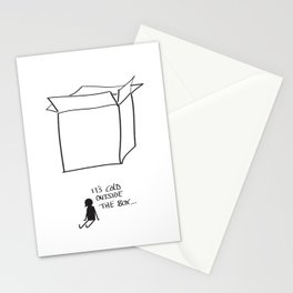It's cold outside the box... Stationery Cards
