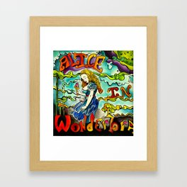 Alice in Wonderbra  Framed Art Print