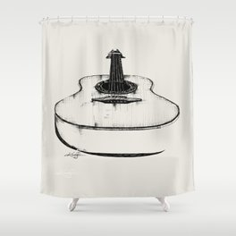 Guitar by Kathy Morton Stanion Shower Curtain