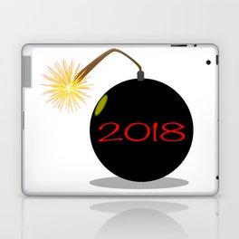 Cartoon 2018 New Year Bomb Laptop & iPad Skin