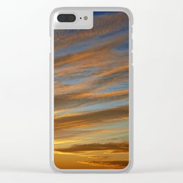 Sunset on the Horizon II Clear iPhone Case