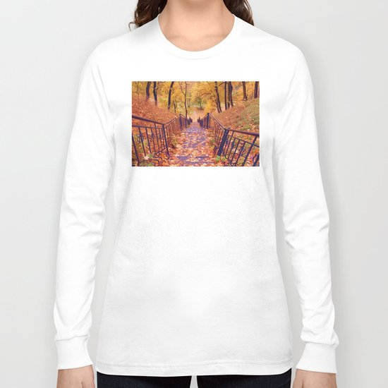 Stairs in the Fall Long Sleeve T-shirt