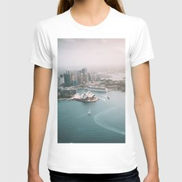 Sydney Opera House Harbour Bridge | Australia Aerial Travel Photography T-shirt