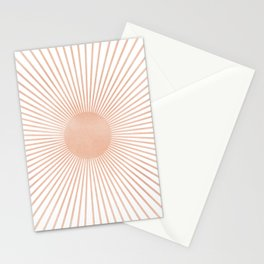 Geometry Sunshine Stationery Cards
