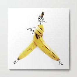 Edible Ensembles: Banana Metal Print