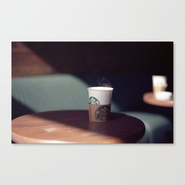 Hot Starbucks Coffee Cup Canvas Print