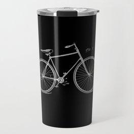 Vintage Bicycle Patent Black Travel Mug