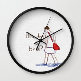 How deep is this? Wall Clock