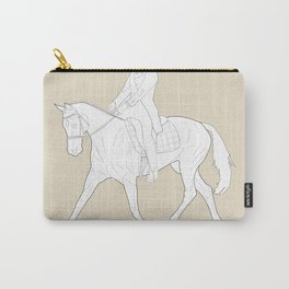 Dressage in Brown Carry-All Pouch