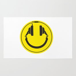 Headphones smiley wire plug Rug