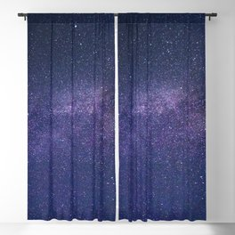 SCENERY 12 - Galaxy Sky Atmosphere Purple Astronomical Night Blackout Curtain