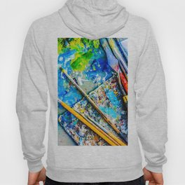 Palette And Brushes Hoody