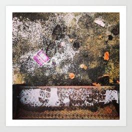 Snow Dusting - Texture Art Print