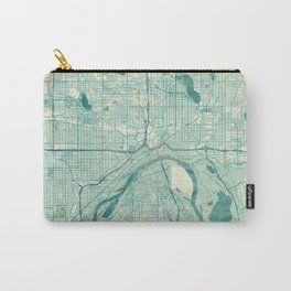 St Paul Map Blue Vintage Carry-All Pouch