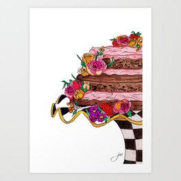 Chocolate Cake! Art Print