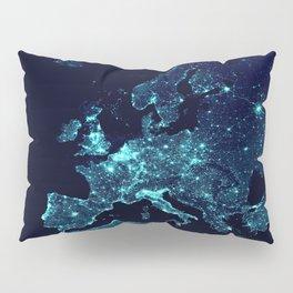 Earth's Night Lights : Teal Pillow Sham