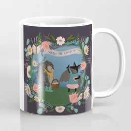 Happy Hedgehog and Friendly Bat Celebrathe Love and Friendship - DeJong Adoption Coffee Mug