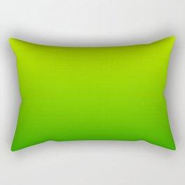 Bright Chartreuse Green Ombre Rectangular Pillow