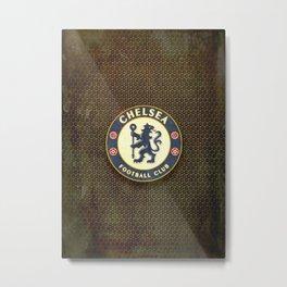 FC Chelsea metal background Metal Print