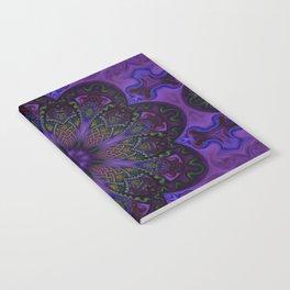 Psychedelic Purple Fractal Mandala Notebook