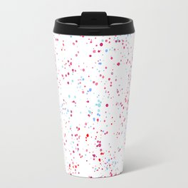 Pink teal watercolor hand painted paint splatters Travel Mug