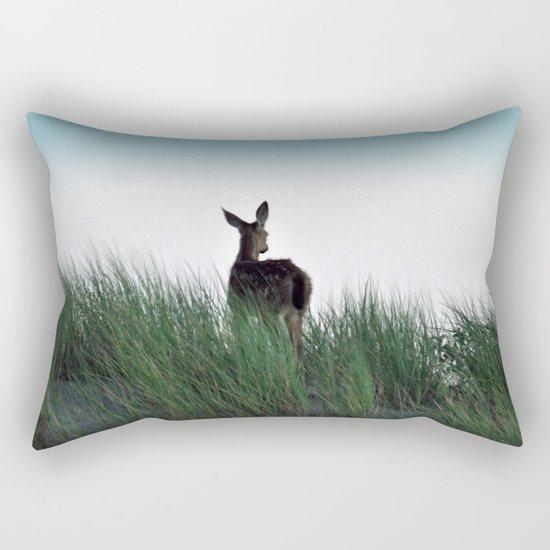 Deer Stop Rectangular Pillow