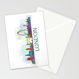London UK Skyline HQ watercolor Stationery Cards