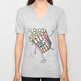 Clumsy Popcorn Unisex V-Neck