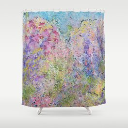 Spring Hydrangeas, Pastel Abstract, Modern Painting Shower Curtain