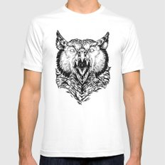 Beware the Owlbear LARGE White Mens Fitted Tee