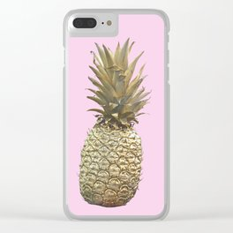 Summer pineapple Clear iPhone Case