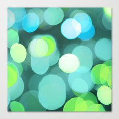 Cyan Light Canvas Print