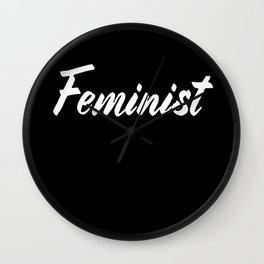 Feminist (on black) Wall Clock