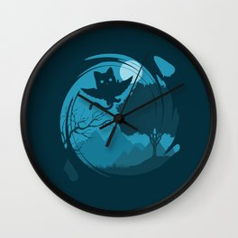 Flying Cat Wall Clock