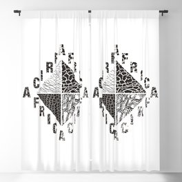 Background from African wild animals Blackout Curtain