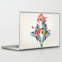 ponyo Laptop & iPad Skins featuring ponyo on the cliff by the sea by Manoou