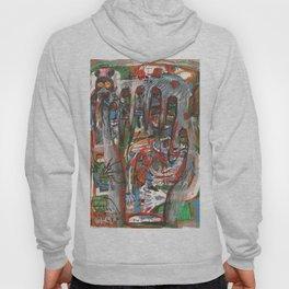 Mà abstracta de colors amb monstre a l 'esquerra Hoody