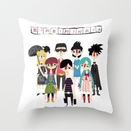 """Bimbiminkia"" Throw Pillow"