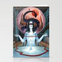 third eye Stationery Cards featuring Third Eye by Michael Brack